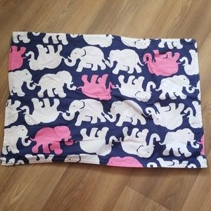 Lilly Pulitzer pillowcase Elephants